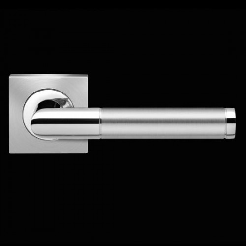 Karcher Design Rio Steel ER34Q Door Lever Handle on a Square Rose